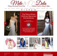 Here's a Website Creation that truly is breathtaking, and FITS the clients dreams! www.metedela.com #WebDesign