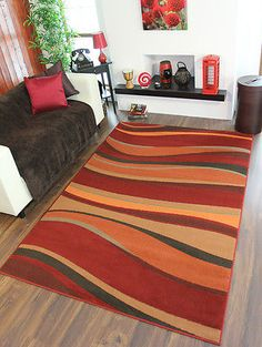 Details About Warm Red Brown Green Burnt Orange Terracotta Long Mat Hall  Runner Rug 8 Sizes
