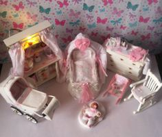 A personal favorite from my Etsy shop https://www.etsy.com/uk/listing/205669442/dolls-house-miniature-vintage-nursery