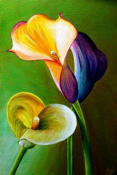 Exemple picturi in acril - Curs Pictura Plants, Painting, Color, Pintura, Colour, Painting Art, Flora, Paintings, Plant