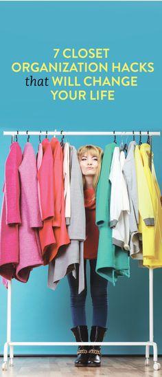 7 Closet Organization Hacks That Will Change Your Life Pant Hangers, Belt Hanger, Luxury Closet, Clothing Hacks, Clothing Websites, Clothing Ideas, Closet Space, Room Closet, Free Tips