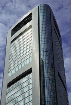Shidome Media Tower with Park Hotel Tokyo, Tokyo.  (Hotel has a great atrium from the 25th floor to the top.)
