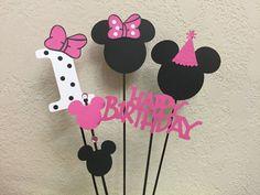 Minnie Mouse Birthday Centerpiece by TheGirlNXTdoor on Etsy