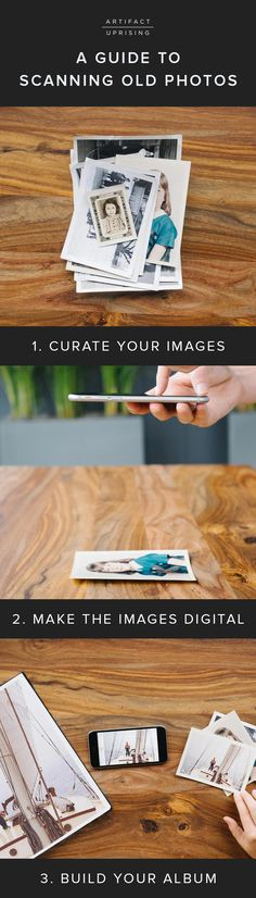 The @artifactuprsng Guide to Scanning Old Photos | Have you been putting off that family photo project? We're breaking it down to give you all the info you need to get from here to there. These 5 tips will bring you from 'tucked away' to 'on display'.