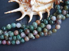 Agate India Indian Agate Beads Round Rondelle by CreativeRoomKartA