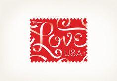 Love Stamp by Louis Fili Ltd.