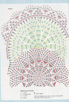 """Photo from album """"Anna Robotki on Yandex. Crochet Doily Diagram, Crochet Doily Patterns, Freeform Crochet, Crochet Chart, Thread Crochet, Crochet Motif, Crochet Table Runner, Crochet Tablecloth, Doily Art"""