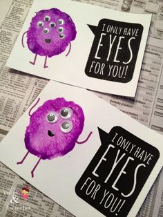 I Only Have Eyes For You | Monster Valentine with a Free Printable