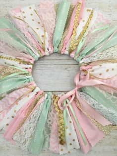 Light Pink Mint and Gold Tutu Pink Mint and Gold by MeadowsMarvels