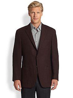 Saks Fifth Avenue Black Label Black Label Textured Wool Jacket
