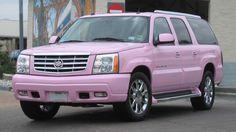 Cadillac Escalade SUV Pink