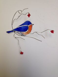 Favorite backyard bird Eastern Bluebird on 3D by seasonaltreasures, $29.95