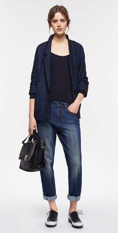 MAX&Co. AW 2015 - Blazer DEDURRE / T-shirt DULCINEA / Jeans DERBY / Satchel Bag AGENDA / Shoes ALICE