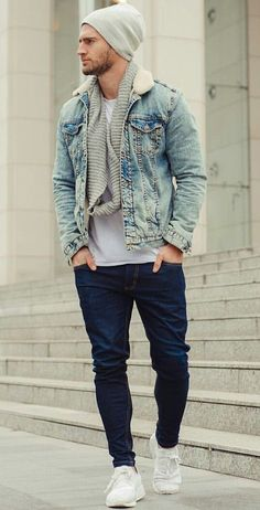 Blue Jean Style Mensoutfits Mens Casual Fashion Mens Fashion Fashion Outfits Fall