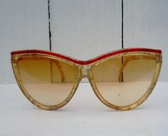 Vintage Catseye Sunglasses 1980s made in by WeeLambieVintage, $12.95