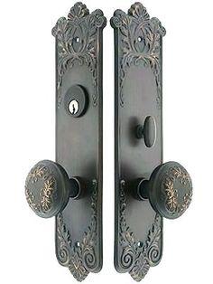 Architectural & Garden Brass Ornate Entry Door Lock Architectural Hardware Knob Escutcheon Snow Flake