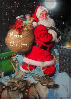 Merry Xmas from Santa gifs cool meme memes and gifs holiday christmas gifs santa Christmas Scenes, Noel Christmas, Father Christmas, Vintage Christmas Cards, Christmas Images, Winter Christmas, Christmas Glitter, Merry Christmas Wishes, Merry Christmas And Happy New Year