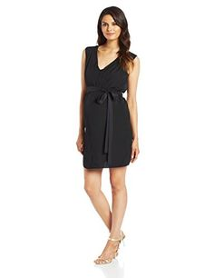 Mothers en Vogue Womens Maternity  Tyvette Tie Dress Black XLarge >>> See this great product.