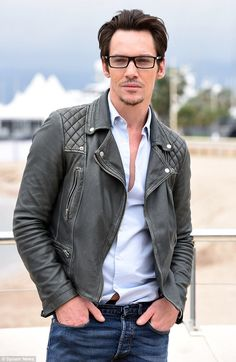 Looking good:Jonathan Rhys Meyers was on fine form when he stepped out in Cannes on Monday