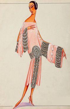 The Style Dress by Jeanne Lanvin 20s Fashion, Moda Fashion, French Fashion, Art Deco Fashion, Fashion History, I Love Fashion, Fashion Prints, Vintage Fashion, Fashion Design