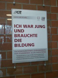 Plakat am Karlsruher Institut für Technologie (KIT)