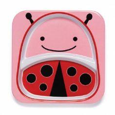 Kinderbordje Lieveheersbeestje Skip Hop. Deze superleuke kinderborden van Skip Hop in de vorm van leuke dieren met heldere kleuren en grappige gezichten kunnen in de vaatwasser en tegen een stootje. GRATIS INPAKSERVICE