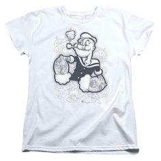 """Checkout our #LicensedGear products FREE SHIPPING + 10% OFF Coupon Code """"Official"""" Popeye / Tattooed - Short Sleeve Women's Tee - Popeye / Tattooed - Short Sleeve Women's Tee - Price: $29.99. Buy now at https://officiallylicensedgear.com/popeye-tattooed-short-sleeve-women-s-tee"""