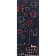 Japanese wrapping cloth with fireworks 手ぬぐい 気音間 特等席