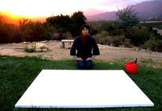 Kanji performance at meditation mount #Kanji #meditaion #calligraphy #performance