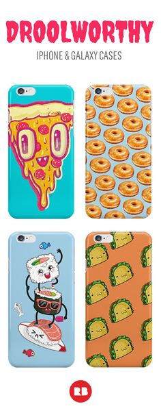 Try not to drool all over your device with one of these delicious cases on it. Whether you're loco for tacos or sprung on sushi, these cases for iPhone or Android are perfect for foodies. Buy them on Redbubble today! iphone case galaxy s5 case galaxy s6 case smartphonecase iphone cases