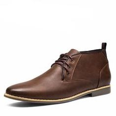 Leatehr Ankle Chukka Boots For Men