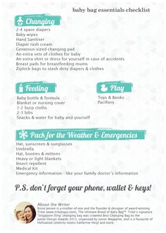 Our downloadable Baby Bag Essentials  Packing Checklist on travelshopablog.com