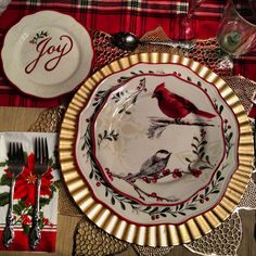 Christmas Better Homes And Garden Mistletoe Salad Plate