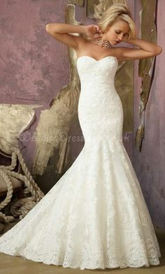 mermaid wedding dress lace