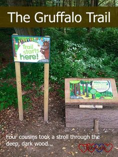 The start of the Gruffalo trail at Alice Holt Forest Gruffalo Trail, The Gruffalo, Forest Crafts, Reception Class, Green Frog, Big Love, 2nd Birthday Parties, Days Out, Day Trip