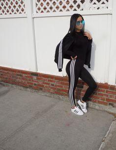 Adidas superstar, adidas 3 stripe leggings, Diana Saldana