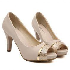 Peep Toe Shoes For Women   Wholesale Cheap Black Peep Toe Heels Sale Online Drop Shipping   TrendsGal.com