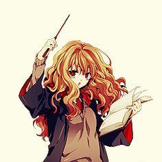 Hermione G. Harry Potter Artwork, Harry Potter Anime, Harry Potter Love, Harry Potter Fandom, Severus Hermione, Ron And Hermione, Hermione Granger, Dramione, Drarry