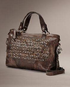 Diana Stud Satchel - Bags & Accessories_Bags_Satchel - The Frye Company in charcoal