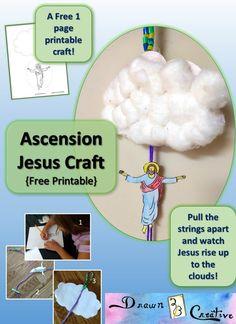 Ascension Jesus Craft {Free printable activity} - Drawn2BCreative