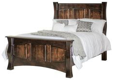 Amish Reno Panel Bed Amish Reno Pane Bed. Rustic wood bed Amish made in choice of wood. Create paradise in your bedroom suite. #AmishBeds