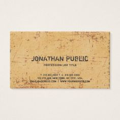 Elegant Vintage Antique Look Premium Thick Luxe Business Card - chic design idea diy elegant beautiful stylish modern exclusive trendy