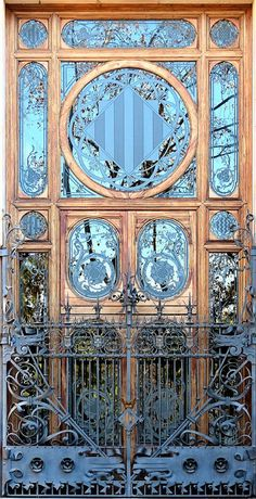 68 New Ideas Art Nouveau House Architecture Entrance Art Nouveau Architecture, Beautiful Architecture, Beautiful Buildings, Architecture Details, Ancient Architecture, Sustainable Architecture, House Architecture, Landscape Architecture, Art Deco