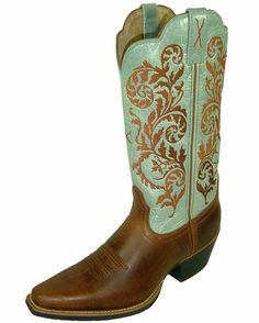 Love these.  For some reason they remind me of my grandparents - in a really good way. :-)  Women's Western NS Toe 12'' - Peanut/Sky Blue