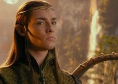 For some reason, this is my third favorite elf between Thranduil, Haldir and ties with Legolas and Lindir.
