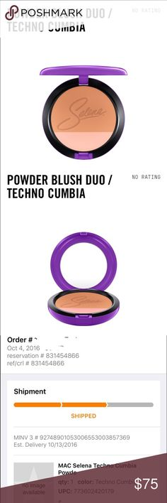 LIMITED! MAC Selena Techno Cumbia powder blush duo LIMITED EDITION MAC Selena Powder Blush duo in Techno Cumbia. This was NOT EASY but i was able to get on Macys.com and last one at the MAC store release! Please keep negative comments to yourself, kthanks! Happy to work on a custom bundle for you. ⛔️ NO TRADES ⛔️  Goodies included with purchase! MAC Cosmetics Makeup Face Powder