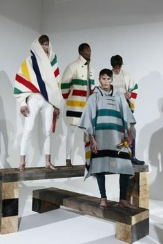 NYC Fashion Week 2012 - John Barlett's Hudson Bay Blanket looks