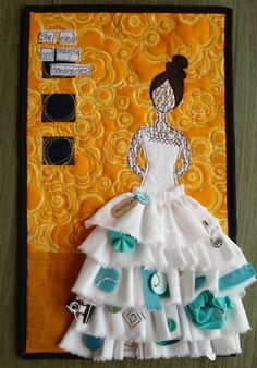 """in her blog... carrie speaks of using """"she-art"""" technqiues in her art quilts"""