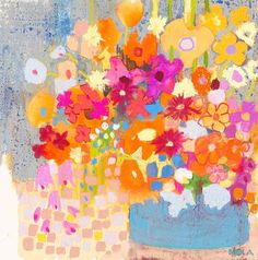 ❀ Blooming Brushwork ❀ - garden and still life flower paintings - Nola Armstrong