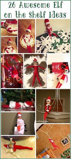 26 Awesome Elf on the Shelf Ideas! Your whole year is now totally planned out for you, with free, fun, unique ideas!